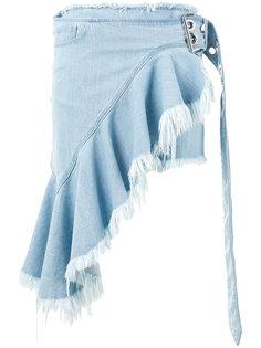 асимметричная джинсовая юбка Marquesalmeida