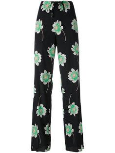 floral print straight trousers Agnona