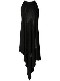 асимметричное вечернее платье Balmain