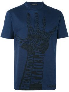 футболка с принтом руки Versace