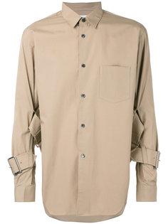 рубашка с пряжками на рукавах Comme Des Garçons Shirt