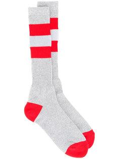 double-stripe socks Facetasm