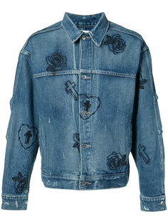 rose embroidered denim jacket Mr. Completely