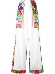 расклешенные брюки с цветочным принтом Ports 1961