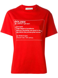 футболка с принтом значения слова Golden Goose Deluxe Brand