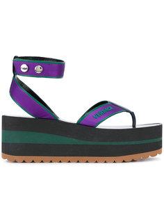 сандалии на платформе Versace