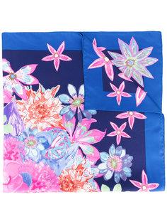 шарф с цветочным принтом  Salvatore Ferragamo Vintage