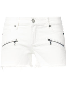 zipped pockets denim shorts  Paige
