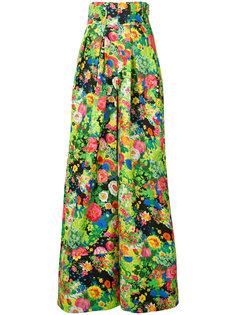 расклешенные брюки с цветочным узором Rosie Assoulin