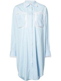 платье-рубашка с кружевными панелями Natasha Zinko