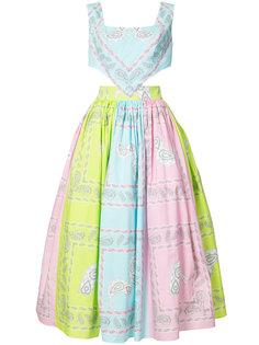 bandana print halter dress Natasha Zinko