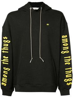 printed sleeve hoodie Mr. Completely
