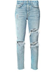 рваные джинсы скинни Grlfrnd