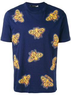 футболка с принтом насекомых Love Moschino