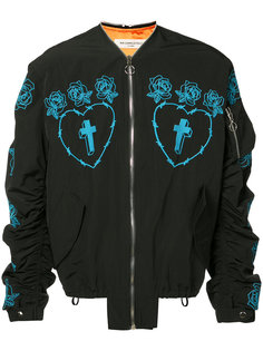 rose embroidered bomber jacket Mr. Completely