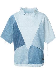 denim patchwork T-shirt  Prps