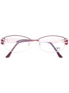 enamelled round frame glasses Cazal