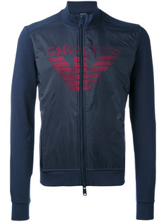 logo print zipped sweatshirt Armani Jeans
