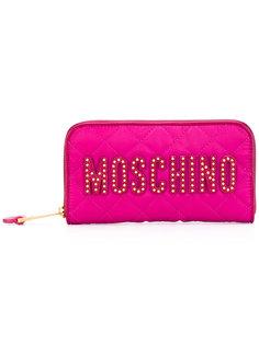 стеганый кошелек с логотипом Moschino