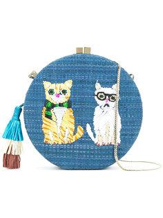 embroidered cat shoulder bag Serpui