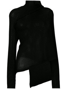 asymmetric knit top Marquesalmeida