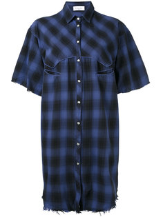 raw edge western shirt Gaelle Bonheur