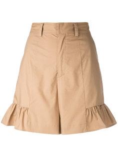 flared hem shorts Muveil