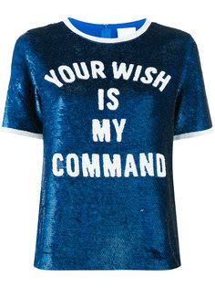 футболка с пайетками Your Wish Is My Command Ashish