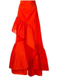 длинная юбка с оборками Peter Pilotto