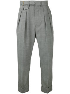 puppytooth drop-crotch trousers  Wooster + Lardini
