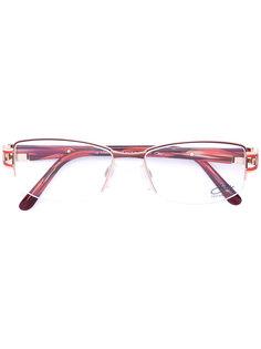 enamelled rectangle frame glasses Cazal