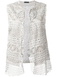 embroidered knitted gilet Cutuli Cult