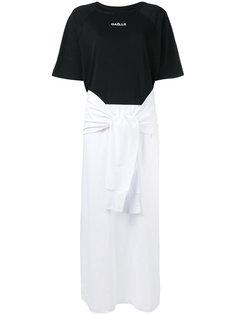 tie sleeve T-shirt dress Gaelle Bonheur