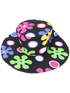 шляпа с цветочным принтом Moschino