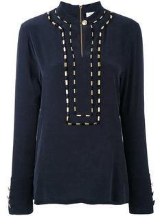 блузка с контрастной строчкой Pierre Balmain