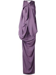длинное платье с драпировкой Rick Owens