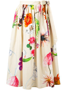tie side floral skirt Blumarine