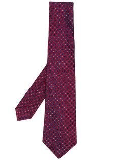 галстук с мелким принтом Kiton