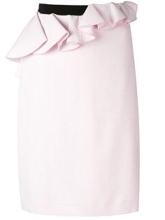 асимметричная юбка с баской Giambattista Valli