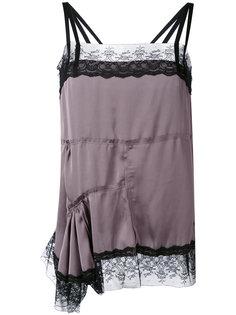 asymmetric lace trim blouse A.F.Vandevorst