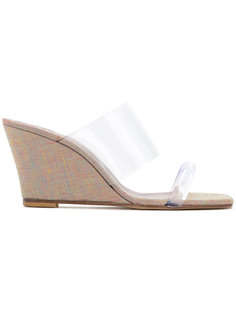 clear wedge sandals Maryam Nassir Zadeh