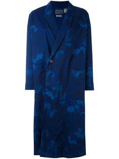 printed kimono coat  Blue Blue Japan