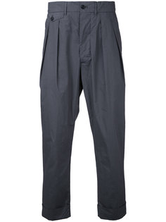 pleated cropped trousers  Wooster + Lardini