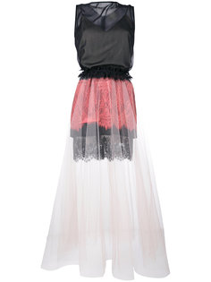 sleeveless lace and tulle dress Loyd/Ford