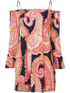frill sleeve cold shoulder dress Trina Turk