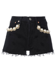 California pearl denim shorts Forte Couture