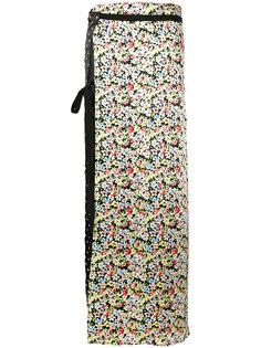 side-slit contrast maxi skirt  Attico