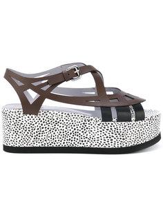 dotted platform sandals Pollini