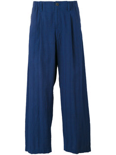 wide-legged ribbed trousers Issey Miyake