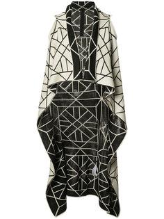 knitted long sleeveless wrap jacket Gareth Pugh